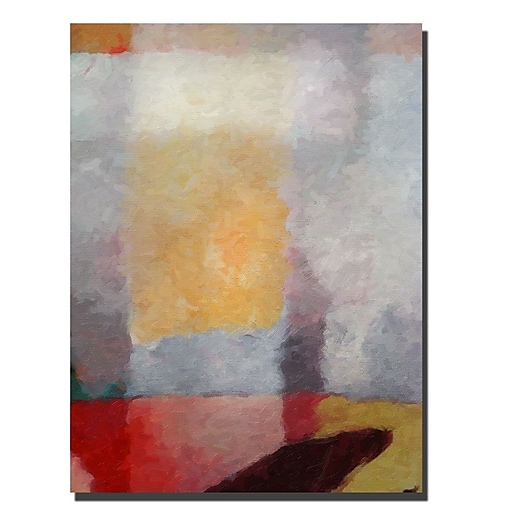 Trademark Fine Art Abstract Landscape by Adam Kadmos-Ready to Hang 24x32 Inches