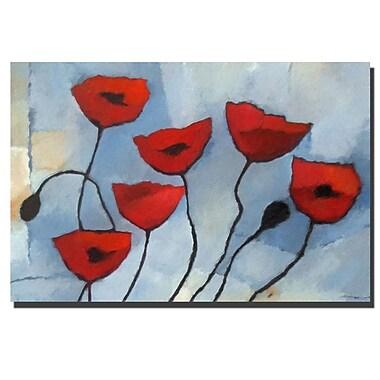 Trademark Fine Art Poppies by Adam Kadmos-Ready to Hang