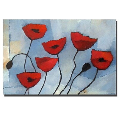 Trademark Fine Art Poppies by Adam Kadmos-Ready to Hang