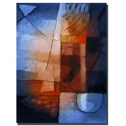 Trademark Fine Art Abstract in Blue by Adam Kadmos-Canvas Ready to Hang