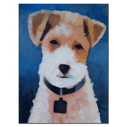 Trademark Fine Art Adam Kadmos 'Fox Terrier' Canvas Art 14x19 Inches