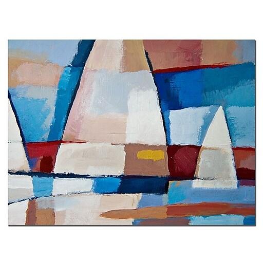 Trademark Fine Art Adam Kadmos 'Sails' Canvas Art Ready to Hang 24x32 Inches