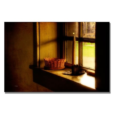 Trademark Fine Art Lois Bryan 'Candle in the Window' Canvas Art 30x47 Inches