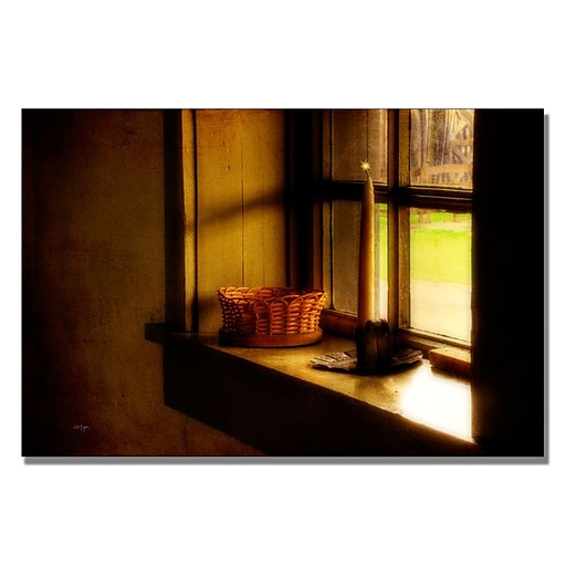 Trademark Fine Art Lois Bryan 'Candle in the Window' Canvas Art 16x24 Inches