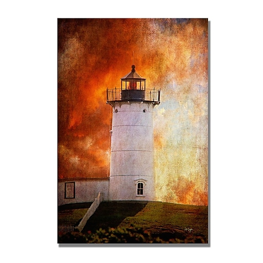 Trademark Fine Art Lois Bryan 'Red Sky in the Morning' Canvas Art 22x32 Inches