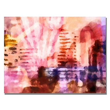 Trademark Fine Art Adam Kadmos 'Pink Urban' Canvas Art 24x32 Inches