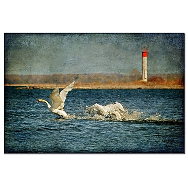Trademark Fine Art Lois Bryan 'The Chase is On' Canvas Art Ready to Hang