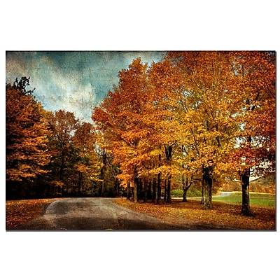 Trademark Fine Art Autumn Scene by Lois Bryan-Canvas Ready to Hang