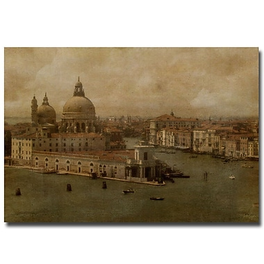 Trademark Fine Art Lois Bryan 'Vintage Venice' Canvas Art 24x32 Inches, LBr0101-C2432GG