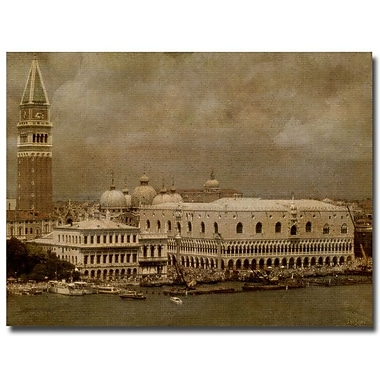 Trademark Fine Art Lois Bryan 'Vintage Venice' Canvas Art 24x32 Inches
