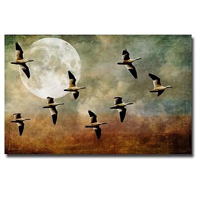 Trademark Fine Art Lois Bryan 'So Many Sad Goodbyes' Canvas Art 22x32 Inches