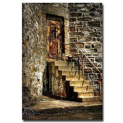 Trademark Fine Art Lois Bryan 'The Locked Door' Canvas Art 30x47 Inches