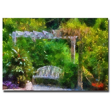 Trademark Fine Art Lois Bryan 'A Restful Retreat' Canvas Art 16x24 Inches