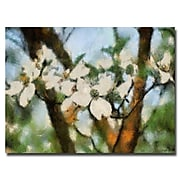 Trademark Fine Art Lois Bryan 'Dogwood Tree' Canvas Art 16x24 Inches
