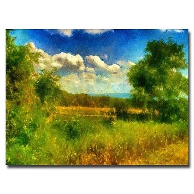 Trademark Fine Art Lois Bryan 'Split-Rail Fence' Canvas Art 30x47 Inches