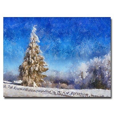 Trademark Fine Art Lois Bryan 'Wintry Day' Canvas Art 16x24 Inches