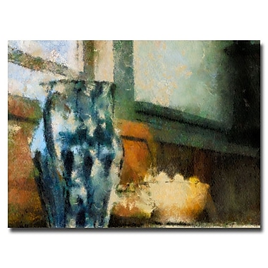 Trademark Fine Art Lois Bryan 'Still Life with Blue Jug' Canvas Art 16x24 Inches