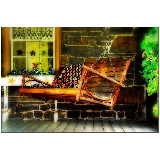 Trademark Fine Art Swing Me by Lois Bryan-Canvas Ready to Hang 16x24 Inches