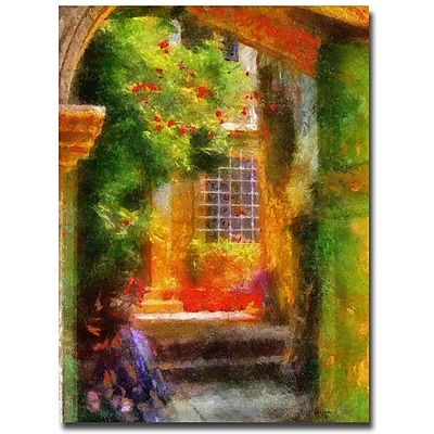Trademark Fine Art Lois Bryan 'Courtyard in Croatia' Canvas Art 24x32 Inches