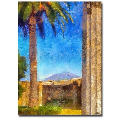 Trademark Fine Art Lois Bryan 'A View of Vesuvius' Canvas Art 35x47 Inches