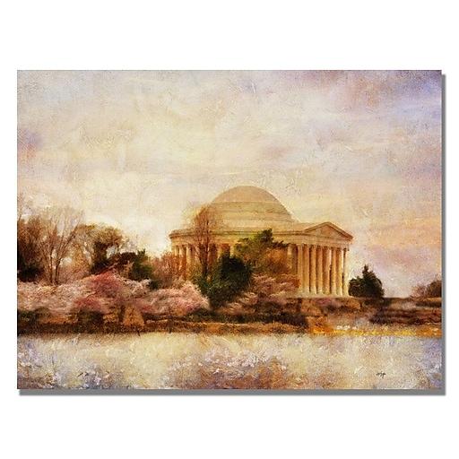 Trademark Fine Art Lois Bryan 'Thomas Jefferson Memorial' Canvas Art 22x32 Inches