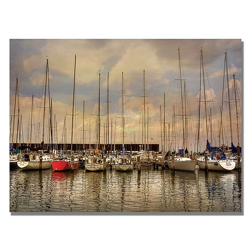 Trademark Fine Art Lois Bryan 'Come Sail Away' Canvas Art 18x24 Inches