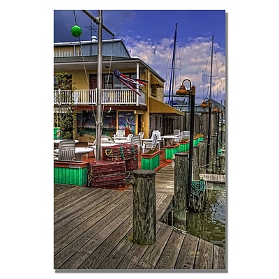 Trademark Fine Art Lois Bryan 'On the Dock' Canvas Art 16x24 Inches