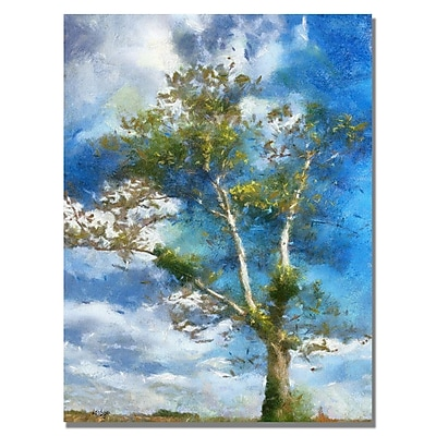 Trademark Fine Art Lois Bryan 'The Tree Stands Alone' Canvas Art 30x47 Inches