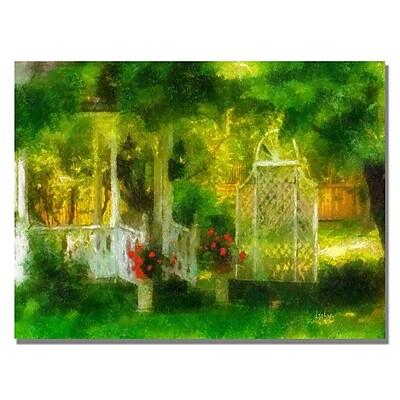 Trademark Fine Art Lois Bryan 'Secret Garden' Canvas Art. 30x47 Inches