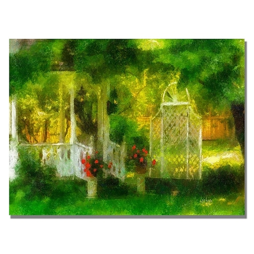 Trademark Fine Art Lois Bryan 'Secret Garden' Canvas Art. 22x32 Inches