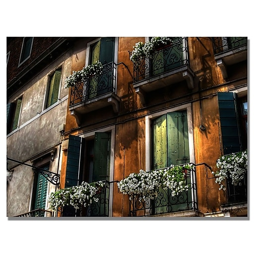 Trademark Fine Art Lois Bryan 'Balcony' Canvas Art 30x47 Inches