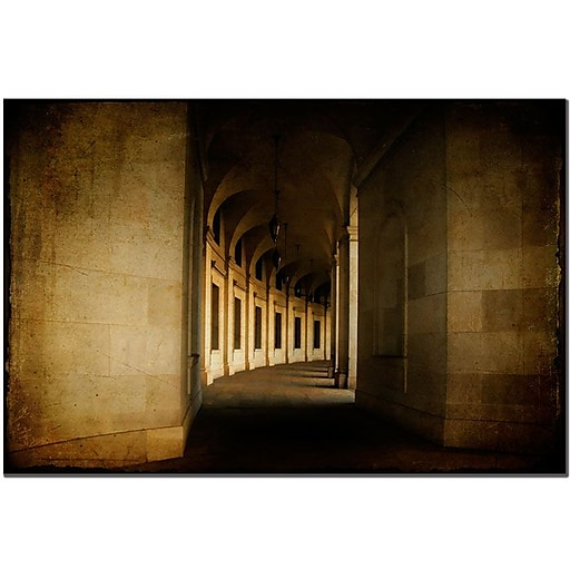 Trademark Fine Art Hallowed Halls by Lois Bryan  Canvas Art Ready to Hang 14x19 Inches