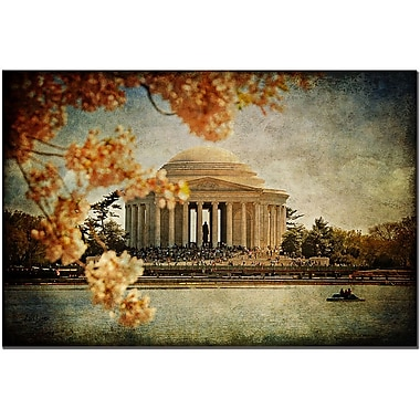 Trademark Fine Art Lois Bryan 'Jefferson Memorial' Art Ready to Hang 22x32 Inches