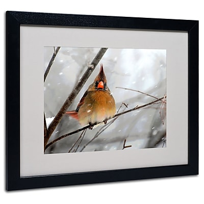 Lois Bryan 'What the...' Framed Matted Art - 11x14 Inches - Wood Frame
