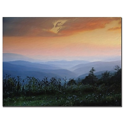 Trademark Fine Art Lois Bryan 'Sunrise on the Mountain' Canvas Art 18x24 Inches