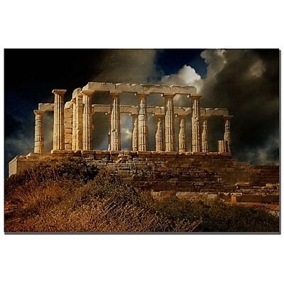 Trademark Fine Art Lois Bryan 'Temple of Poseidon' Canvas Art 16x24 Inches
