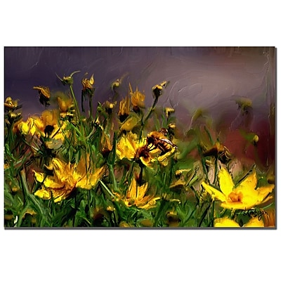 Trademark Fine Art Lois Bryan 'The Buzzing of the Bees' Canvas Art 22x32 Inches