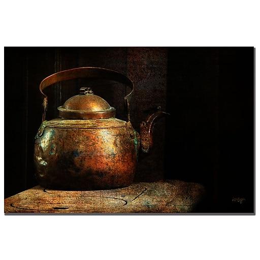 Trademark Fine Art Lois Bryan 'Put the Kettle On' Canvas Art 16x24 Inches