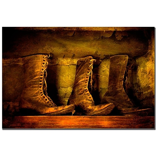 Trademark Fine Art Lois Bryan 'Old Fashioned Boots' Canvas Art 22x32 Inches