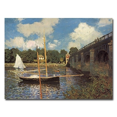 Trademark Fine Art Claude Monet, 'Bridge at Argenteuil II' Canvas Art 35x47 Inches