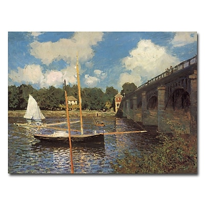 Trademark Fine Art Claude Monet, 'Bridge at Argenteuil II' Canvas Art 14x19 Inches
