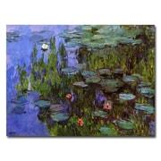 Trademark Fine Art Claude Monet 'Sea Roses' Canvas Art