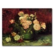 Trademark Fine Art Vincent van Gogh 'Peonies and Roses' Canvas Art