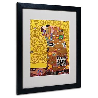 Gustav Klimt 'Fulfillment' Framed Matted Art - 11x14 Inches - Wood Frame