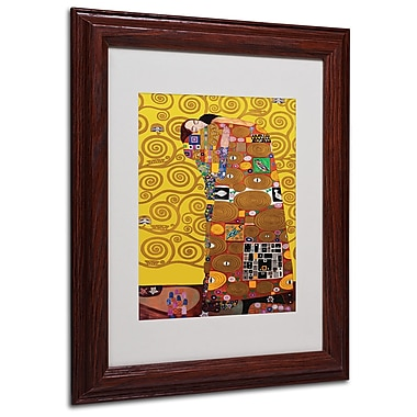 Gustav Klimt 'Fulfillment' Framed Matted Art - 16x20 Inches - Wood Frame
