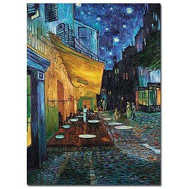 Trademark Fine Art Vincent van Gogh 'CafE Terrace' Canvas Art 18x24 Inches