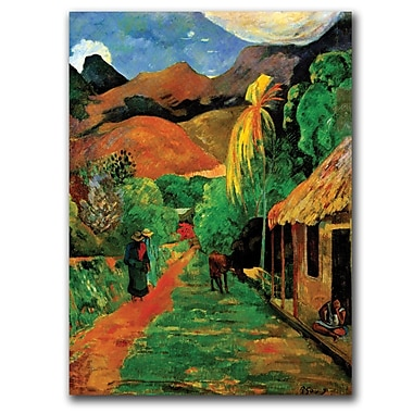 Trademark Fine Art Rue de Tahiti by Paul Gaughin-Gallery Wrapped Art