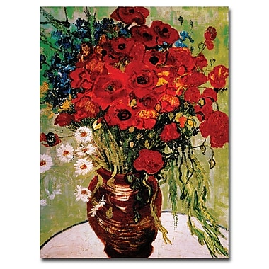 Trademark Fine Art Vincent van Gogh 'Dasies & Poppies' Canvas Art 36x48 Inches