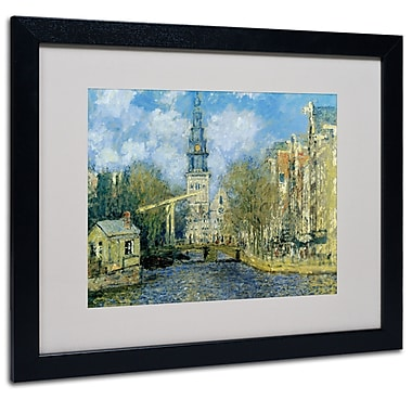 Claude Monet 'The Zuiderkerk at Amsterdam' Framed Matted Art - 11x14 Inches - Wood Frame
