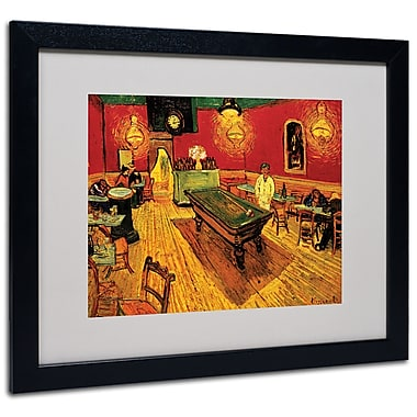Trademark Fine Art Vincent van Gogh 'Night Cafe' Matted Art Black Frame 16x20 Inches